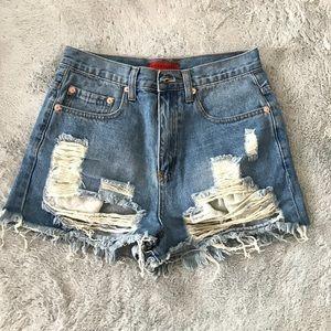 Nasty Gal ripped shorts
